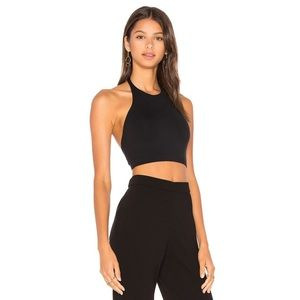 Black Theory Tubiolo Tubular Top Halter Cropped